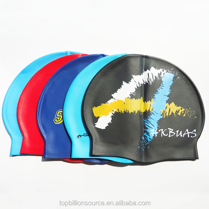 9250b1e3b95 Custom sizes silicone best swim cap design your own for baby big head kids
