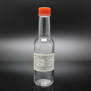 5 oz Woozy hot chili sauce glass bottle with 24mm continuous thread cap