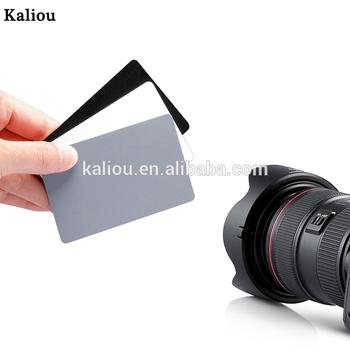 Balance de blancos tarjeta gris Digital Fotografía de Película de 18 grados de accesorios de la Cámara