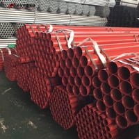 UL Listed Ral 3000 Red Painting ASTM A795 Fire Fighting Sprinkler Steel Pipe with Grooved End From Youfa Group