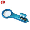 Fashionable Pocket LED Lighted Hand Held with LCD Digital Clock Magnifier For Old People