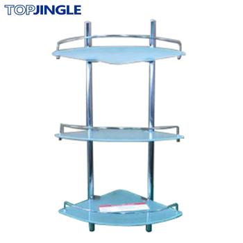 Triple Layer Bathroom Shower Corner Glass Shelf - Buy Corner Glass ...