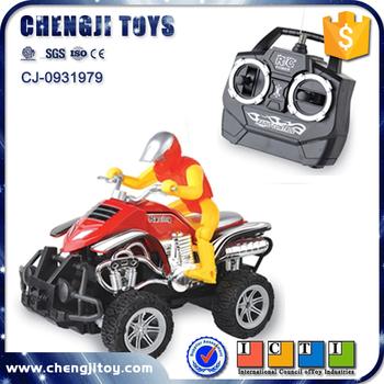 Super Car Toys 4 Wheels Remote Control Atv Moto Plastic Rc