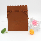 Drawstring pu leather pouch bag for synthetic emerald ruby jewelry etc
