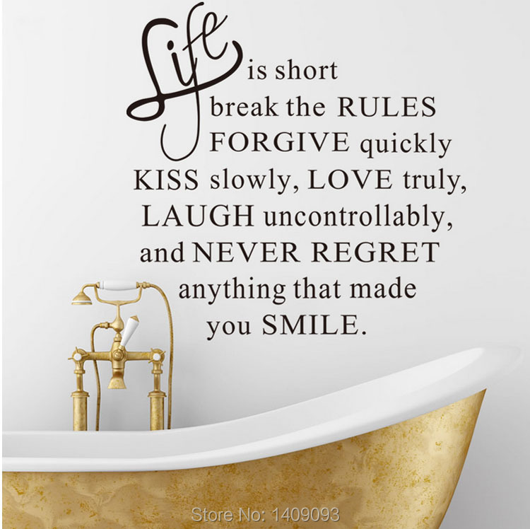 Wall Decals Home Decor Life Love Wall Stickers Quotes And