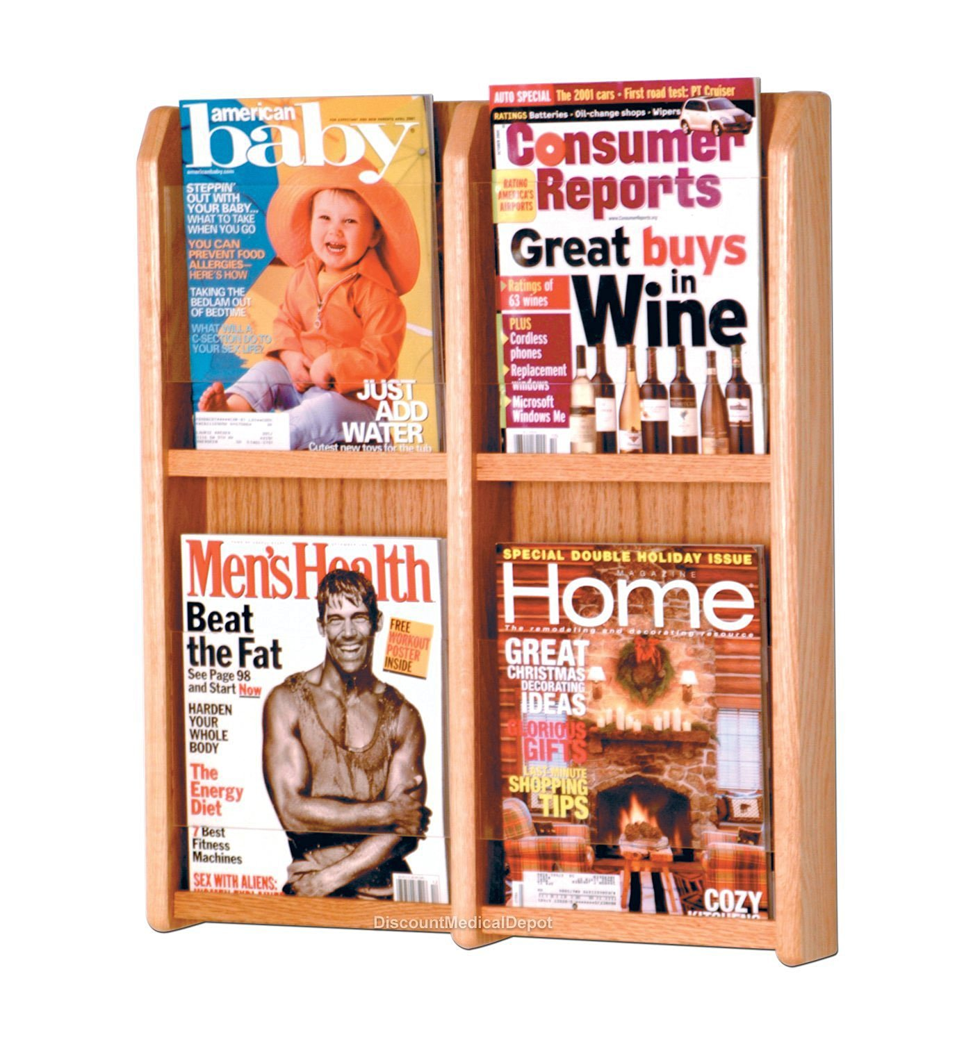 mag magazine office com one premium rack dp products mount large holder amazon brochure source wall