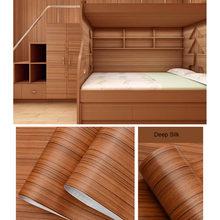 ПВХ водонепроницаемые самоклеящиеся обои, рулон мебели, виниловая декоративная пленка, наклейки из древесины для самостоятельного домашне...(Китай)