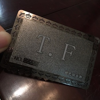 Matte silver businessnamemembership metal cards china matte silver businessnamemembership metal cards china manufacturer reheart Images