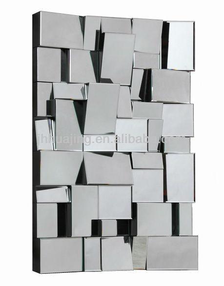 facettes 3d art d co contemporaine walll miroir d coration couloir h tel salon miroir. Black Bedroom Furniture Sets. Home Design Ideas