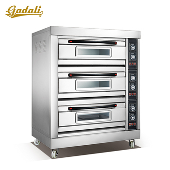 SS 3 layers bread oven, baking oven for bread and cake, price bread baking oven