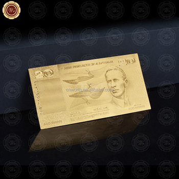 Hot Sale Gold Banknote of Old AUD20 high quality in currency paper Money For Collection