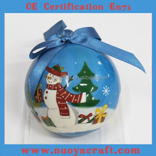 2015 USA/EU popular christmas decorative, patterned christmas decorative ball custom
