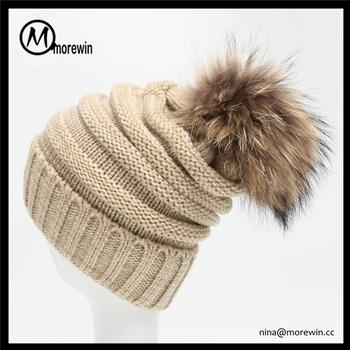 6fd8dda0 Morewin Brand Slouch Fur Pom Pom Winter Hats Cc Beanie Hat - Buy ...
