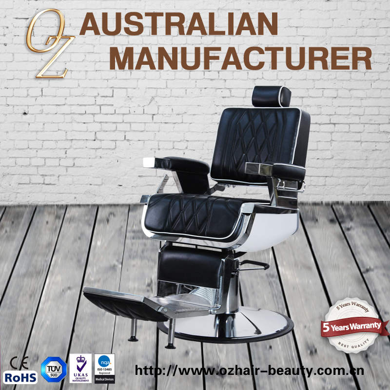 OZ chic design Beauty salon furniture 3-seats waiting chair waiting room sofa chair for hair salon with backrest