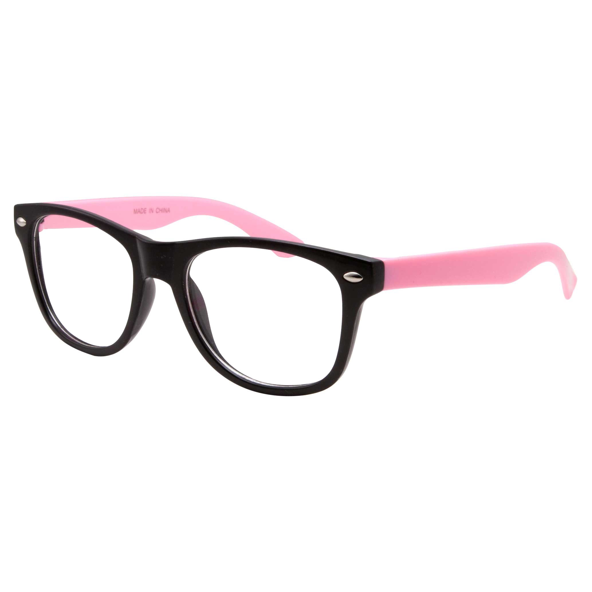 4719a459e4f Get Quotations · Kids Nerd Fake Glasses Clear Lens Colored Arms Geek Costume  Children s (Age 3-10