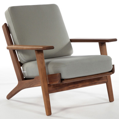 hans wegner fauteuil salon chaise design moderne bois cadre tissu coussin chaise en bois. Black Bedroom Furniture Sets. Home Design Ideas