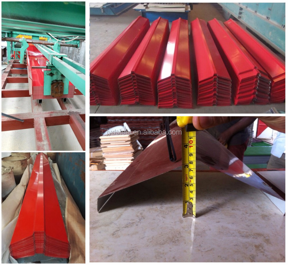 Pre Painted Zinc Coated Steel Roof Gutter Buy Ridge