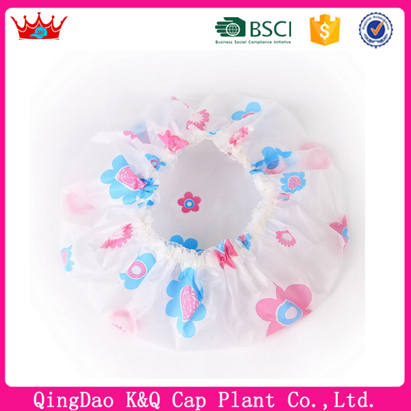 Wholesale Cute Waterproof Hot Selling Hotel Shower Cap for adult and/or baby