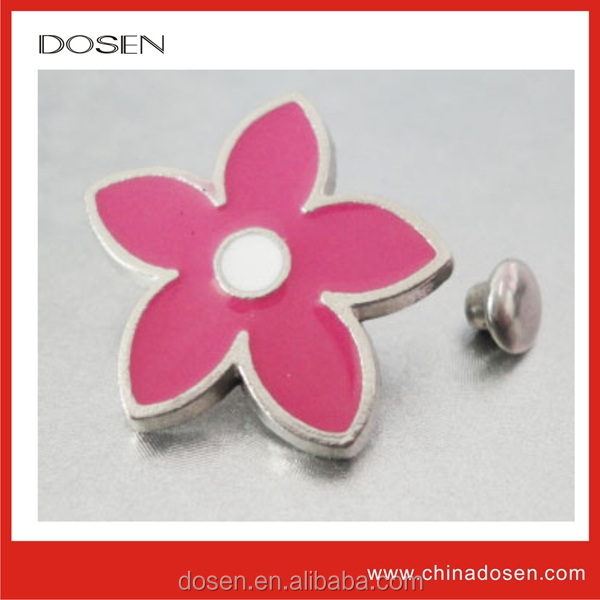 Shiny silver tone flower shape style rivet for clothing, flower rivet, rivet wholesale jean manufacturers in usa