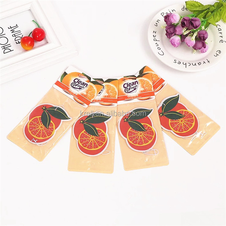 Custom Fruit Shape All Scents Customized  Air Freshener Paper For Car