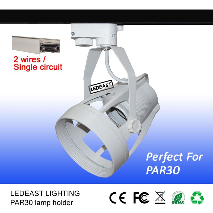 2 Wires E27 Par30 Fixture Track Light Fixture Track Lamp Body ...