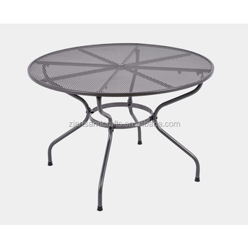 Wrought Iron Round Patio Garden Dining Table