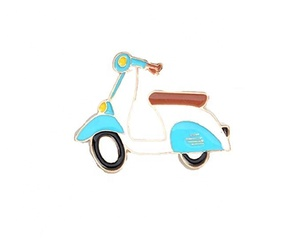 Scooter custom enamel lapel pin