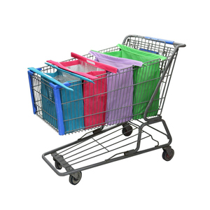 a70588d77f9 Reusable eco woven shopping bags grocery foldable shopping cart bag for  supermarket trolley carts