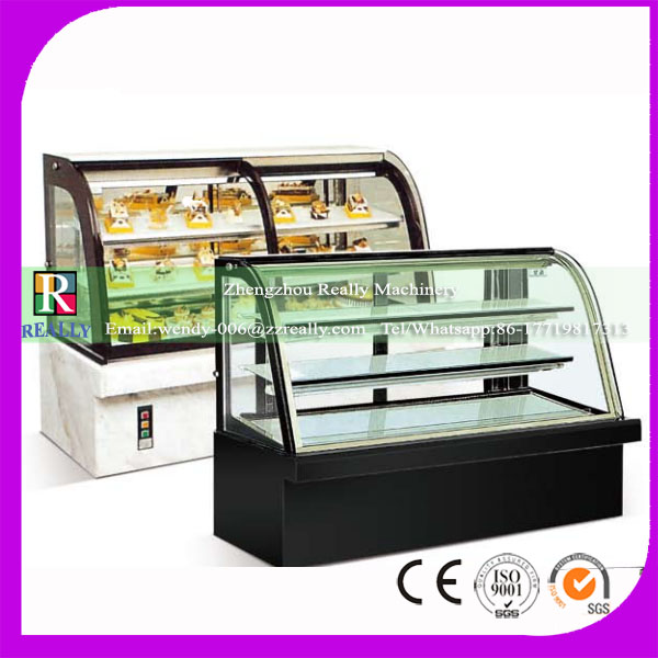 Display cooler type and single-temperature style commercial refrigerator equipment curved glass cake display cabinet refrigerat
