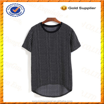 Custom 100 polyester short front and long back vertical for Custom t shirts front and back