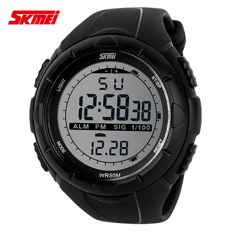 china electronic market digital watch round dial multifuctional wrist watches