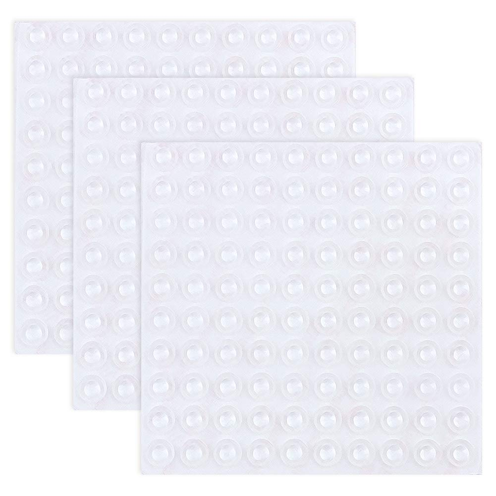 URlighting Clear Rubber Feet(300 Pcs) Adhesive Bumper Pads Self Stick Round Bumpers Noise Dampening Buffer Bumpers Drawers, Cabinet Doors, Cutting Boards, Furniture, Electronics, 8.5 2.5 mm