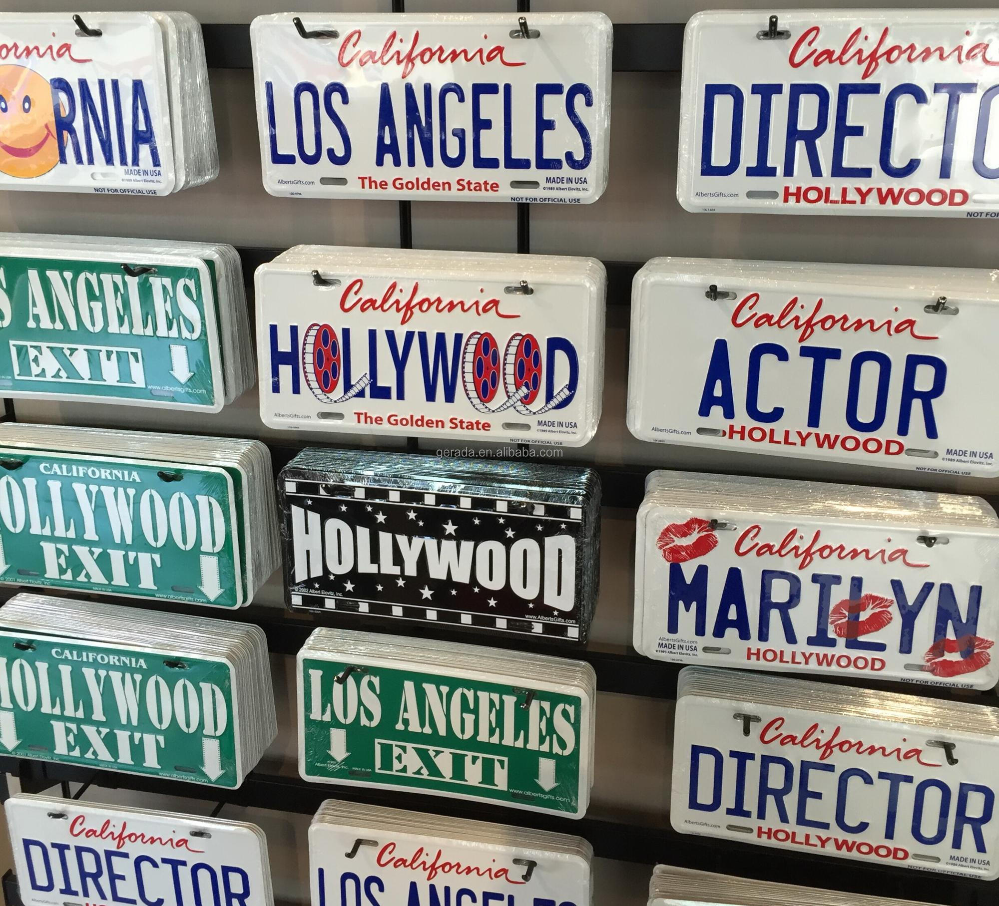 Amerika La La Land Özel Araba Lisansı Plaka Hediyelik ...
