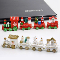 QS brand Hot selling mini wooden train sets Christmas