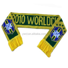 Acrylic Knit Sports Scarf World Cup Muffler Football Team Scarf