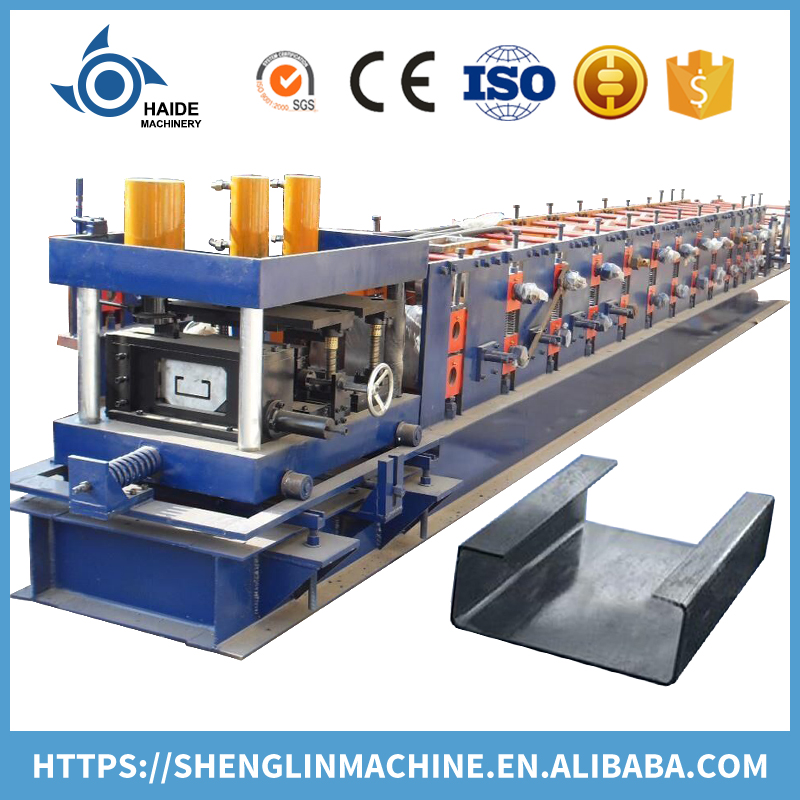 Automatic C steel purlin cold roll forming machine for C profile