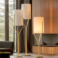 Modern Fabric Gold Tree Branch Led Floor Lamp For Hotel Decoration