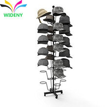 Multi-function department store apply flooring metal hat display shelves