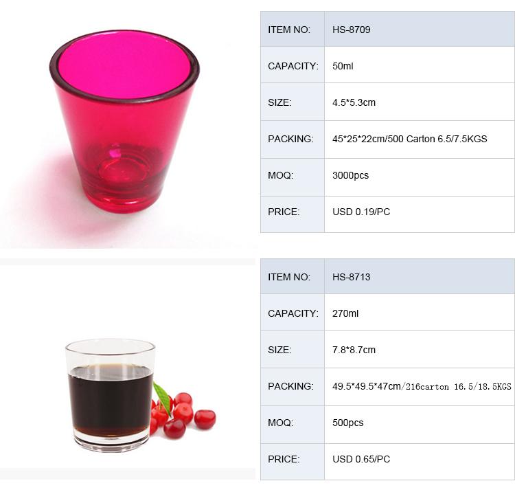 10 oz Đầy Màu Sắc Cá Nhân Martini Polycarbonate Cốc Cocktail Cốc Thủy Tinh