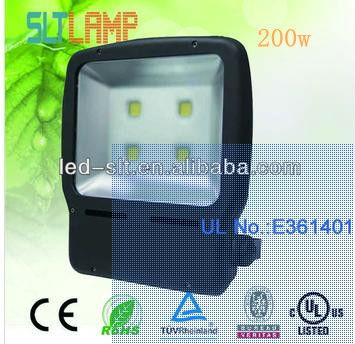 2013 hot-sale UL cUL e361401 led flood light 200W led reflector light weanwell driver and bridgelux chip