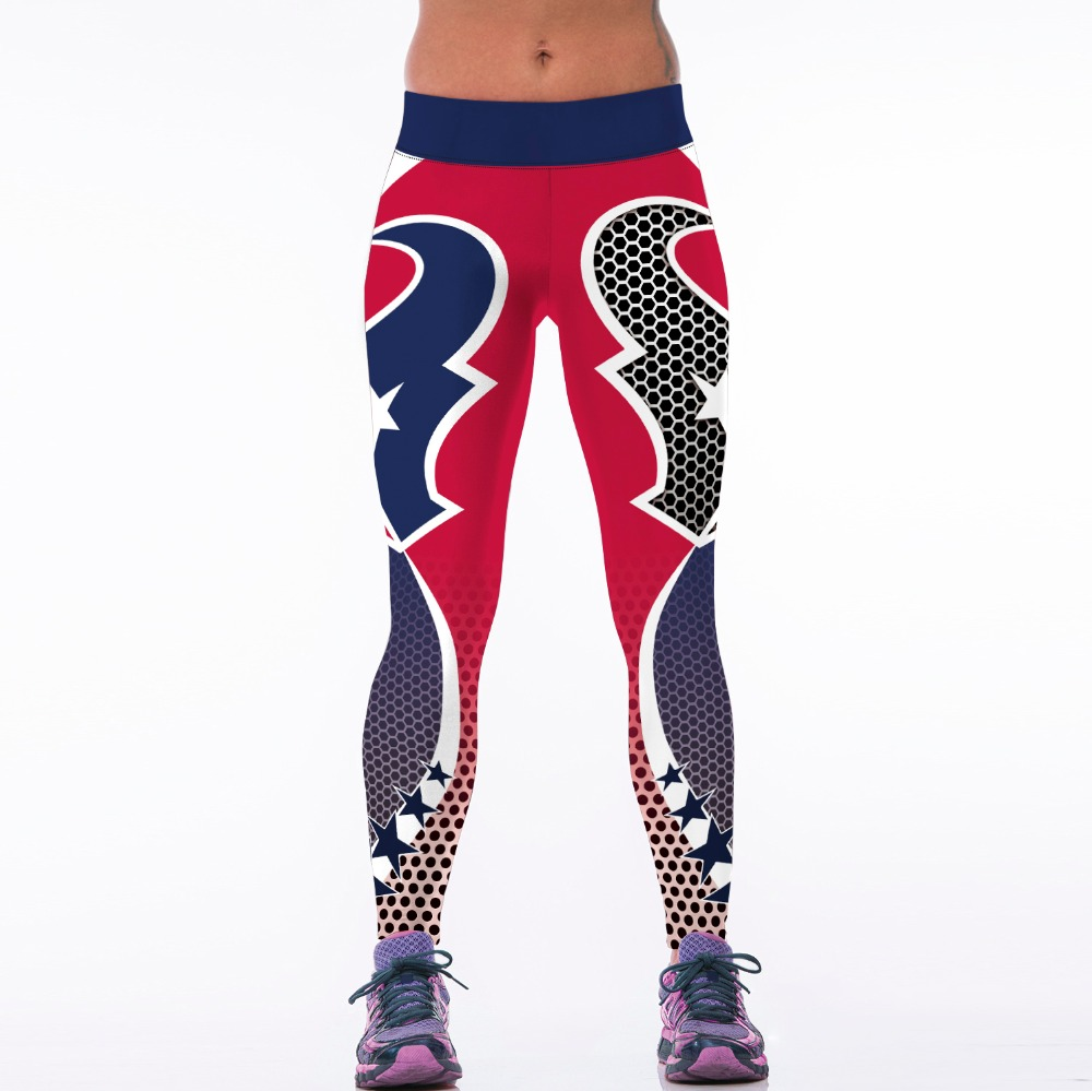 2016 Women American Football Pattern 3d Leggings Stretch: Popular Designer Workout Clothes-Buy Cheap Designer