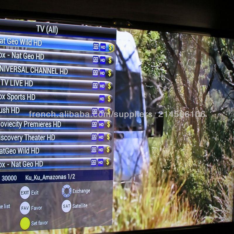 Android Set-top (dvb-s2) Récepteur satellite TV iks libres