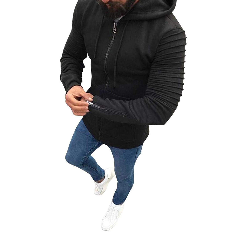 Hzcx Fashion Mens Autumn And Winter Fleece Lined Hoodie Sport Sweatshirts