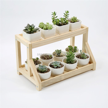 Searun Garden Wooden Flower Rack / Flower Display Shelf / Flower Stand