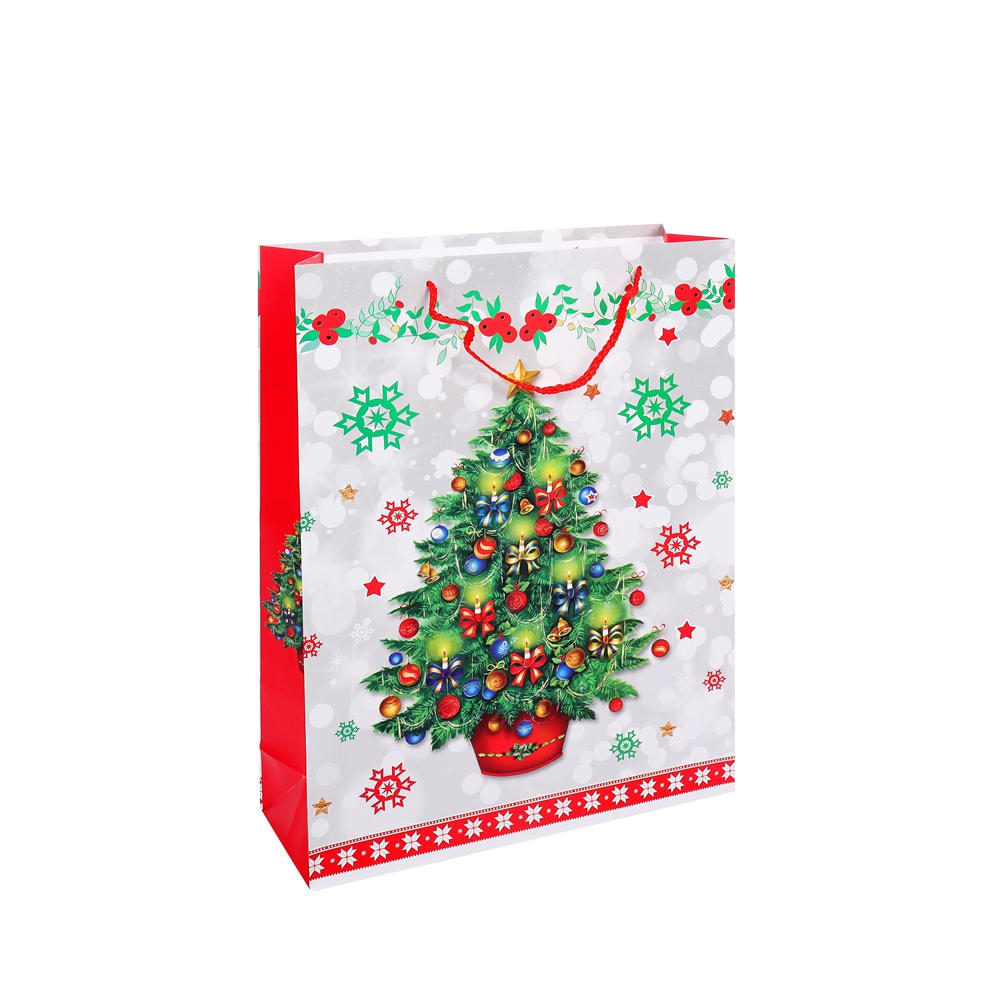 Recyclable Feature Promotional Kraft Shopping Packaging Paper Gift Bag With Custom Logo Printing