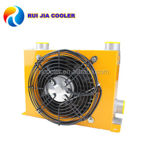 Oil Press Coolers Hydraulic Air Cooled Heat Exchanger With Fan