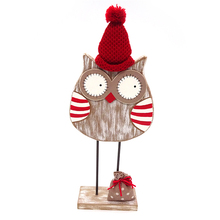 38CM owl christmas ornaments wooden christmas decoration
