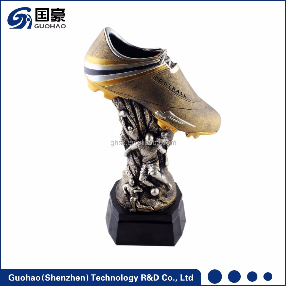 European cup sports soccer awards resin mini shoe trophy