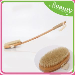 Wood handle bath cleaning dry natural bristle body br h0tnn wood bath brushes for sale