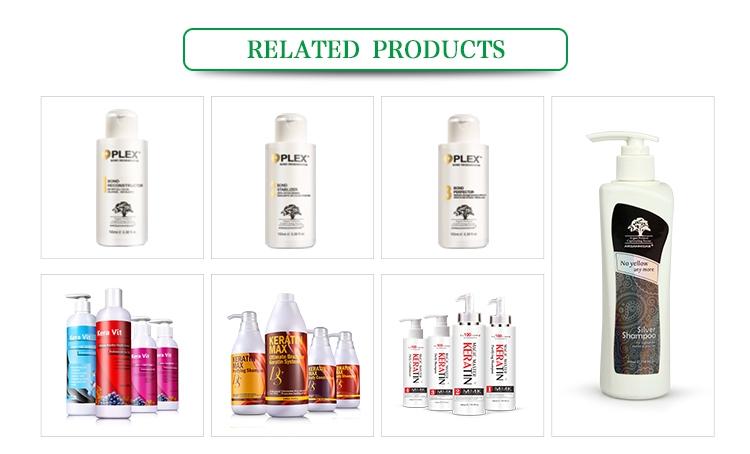 OEM ODM Indische Private Label Haar SPA Bio Natürliche Brasilianische Keratin Behandlung Set Für Trockene Lockiges Haar